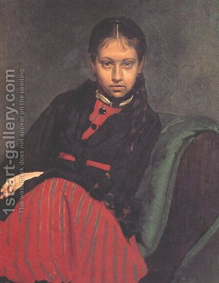 Portrait of Vera Shevtsova 2 by Ilya Efimovich Efimovich Repin - Reproduction Oil Painting