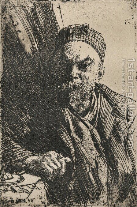 Paul Verlaine by Anders Zorn - Reproduction Oil Painting