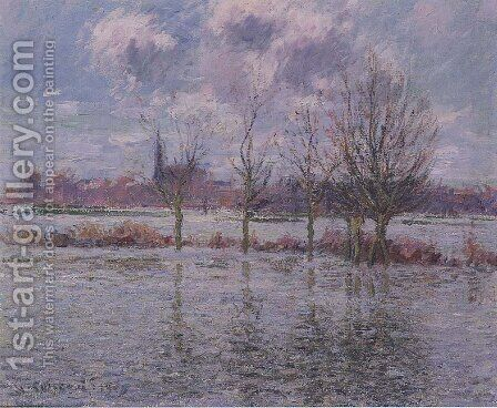 Flood Near Nantes by Gustave Loiseau - Reproduction Oil Painting