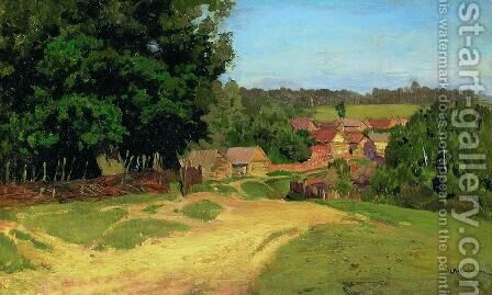 Small village by Isaak Ilyich Levitan - Reproduction Oil Painting
