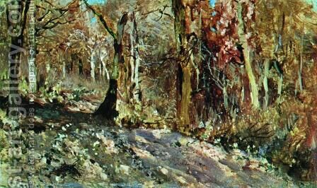 Autumn forest by Isaak Ilyich Levitan - Reproduction Oil Painting