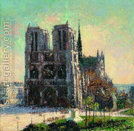 View of Notre Dame by Gustave Loiseau - Reproduction Oil Painting