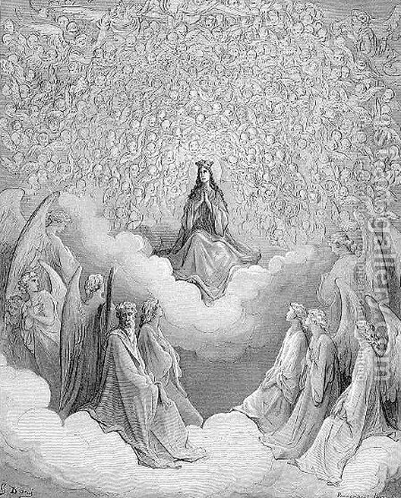 The Queen of Heaven by Gustave Dore - Reproduction Oil Painting