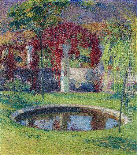 Pool Near Tonnelle de Marquayrol by Henri Martin - Reproduction Oil Painting