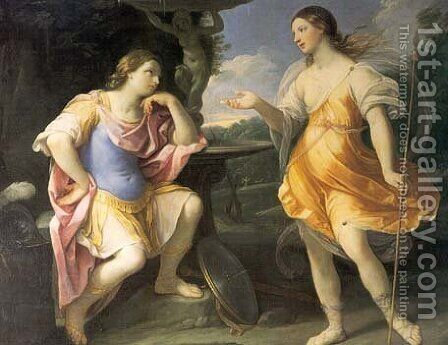 Encounter of Bradamante and Fiordispina by Guido Reni - Reproduction Oil Painting