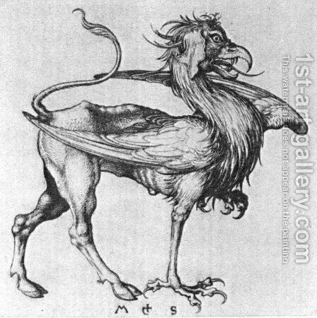 Griffin by Martin Schongauer - Reproduction Oil Painting