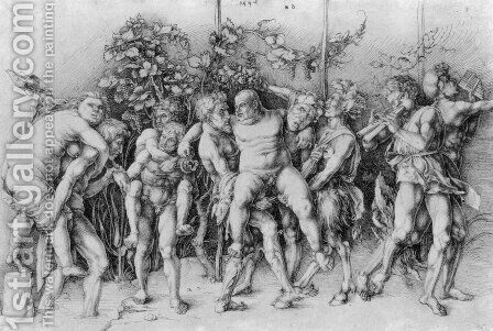 Bacchanal with Silenus by Albrecht Durer - Reproduction Oil Painting