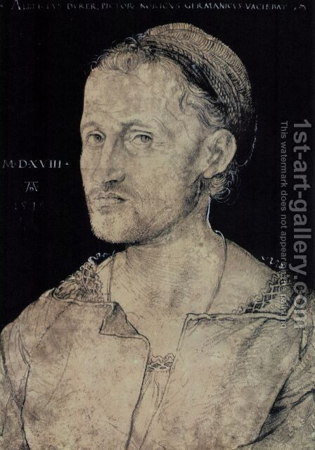 Hans the Elder Portrait Burgkmair by Albrecht Durer - Reproduction Oil Painting