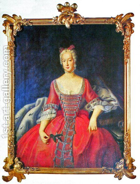 Friederike Sophie Wilhelmine Princess of Prussia by Antoine Pesne - Reproduction Oil Painting