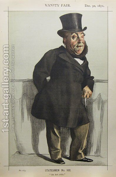 Caricature of William Henry Gregory by James Jacques Joseph Tissot - Reproduction Oil Painting