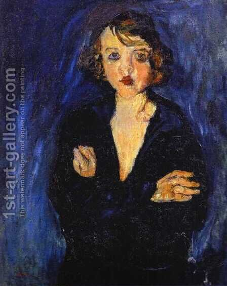 Woman with Arms Folded by Chaim Soutine - Reproduction Oil Painting