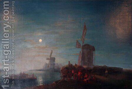 Windmill by Ivan Konstantinovich Aivazovsky - Reproduction Oil Painting