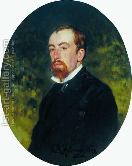 Portrait of the Artist Vasily Polenov by Ilya Efimovich Efimovich Repin - Reproduction Oil Painting