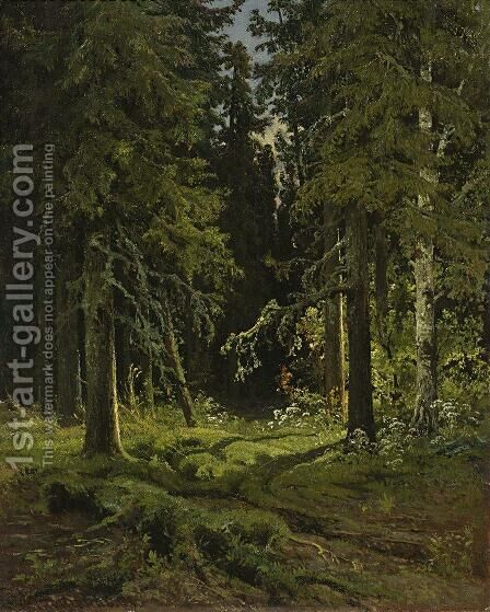 Forest Landscape by Ivan Shishkin - Reproduction Oil Painting