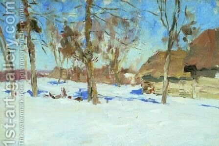 Early march by Isaak Ilyich Levitan - Reproduction Oil Painting