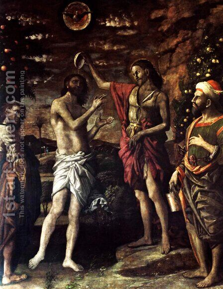The Baptism of Christ by Andrea Mantegna - Reproduction Oil Painting