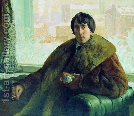 Portrait of I. Zolotarevsky by Boris Kustodiev - Reproduction Oil Painting