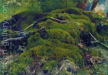 Moss. Roots by Ivan Shishkin - Reproduction Oil Painting