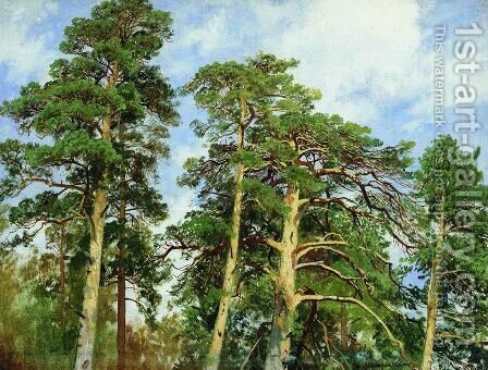 The tops of the pines by Ivan Shishkin - Reproduction Oil Painting