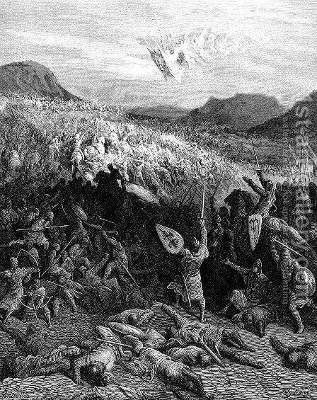 The Battle of Nicaea in 1097 by Gustave Dore - Reproduction Oil Painting