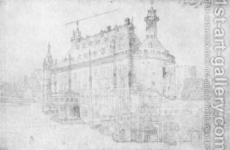 The town hall in Aachen by Albrecht Durer - Reproduction Oil Painting