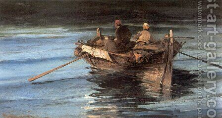 Fishing boat by Constantinos Volanakis - Reproduction Oil Painting