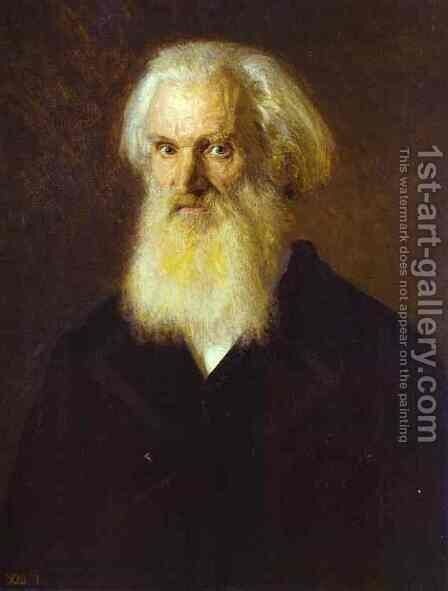 Portrait of the Artist Mikhail Dyakonov by Ivan Nikolaevich Kramskoy - Reproduction Oil Painting