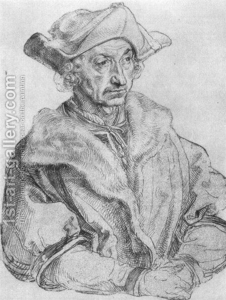 Portrait of a man (Sebastian Brant) by Albrecht Durer - Reproduction Oil Painting