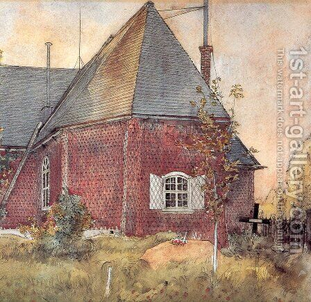 Old Sundborn Church by Carl Larsson - Reproduction Oil Painting