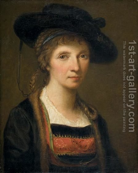 Self-portrait 6 by Angelica Kauffmann - Reproduction Oil Painting