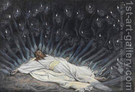 Jesus Ministered to by Angels by James Jacques Joseph Tissot - Reproduction Oil Painting