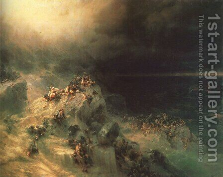 Deluge by Ivan Konstantinovich Aivazovsky - Reproduction Oil Painting