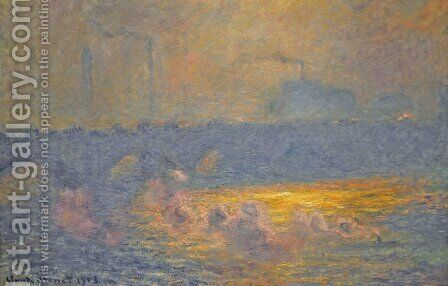 Waterloo Bridge by Claude Oscar Monet - Reproduction Oil Painting
