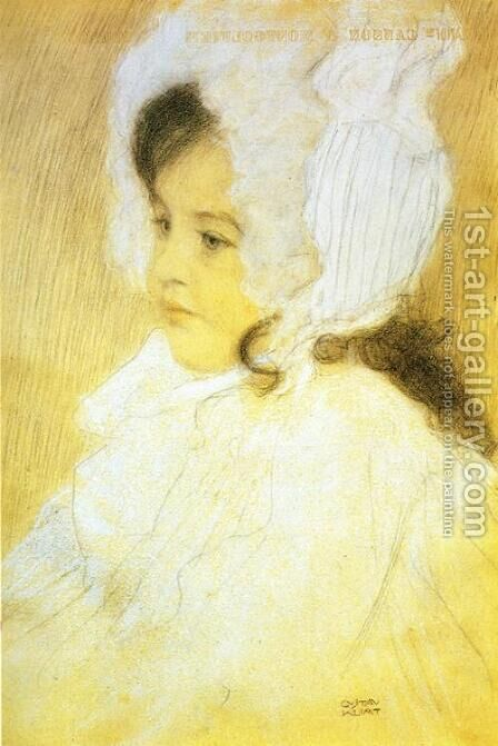 Portrait of a Girl by Gustav Klimt - Reproduction Oil Painting