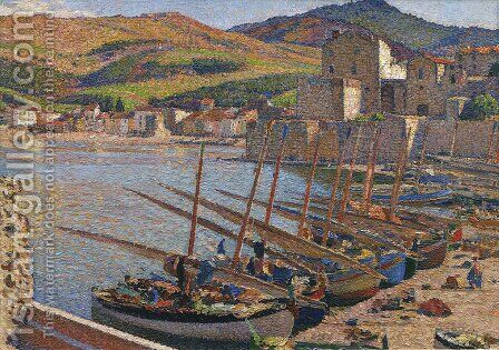 Boats at Collioure by Henri Martin - Reproduction Oil Painting