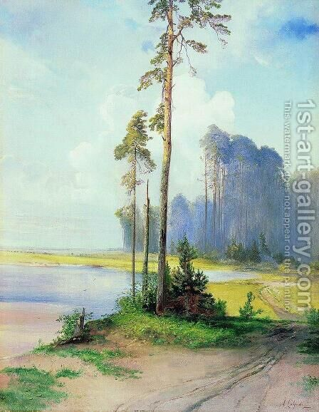 Summer landscape. Pines by Alexei Kondratyevich Savrasov - Reproduction Oil Painting