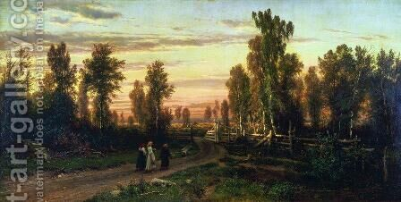 Evening by Ivan Shishkin - Reproduction Oil Painting