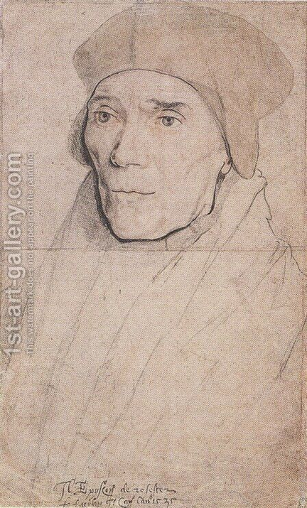 Portrait of Bishop John Fisher by Hans, the Younger Holbein - Reproduction Oil Painting