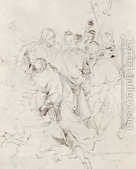 Arrest of Christ by Albrecht Durer - Reproduction Oil Painting