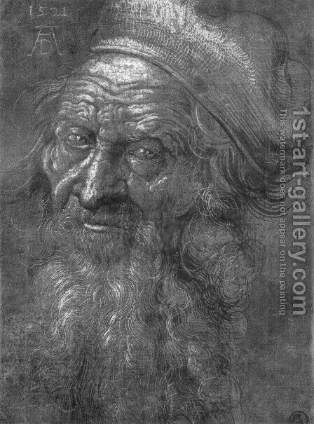 Head of an old man 2 by Albrecht Durer - Reproduction Oil Painting