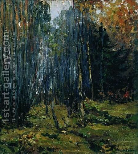 Autumn forest 2 by Isaak Ilyich Levitan - Reproduction Oil Painting