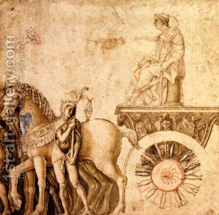 Julius Caesar on his triumphal car by Andrea Mantegna - Reproduction Oil Painting