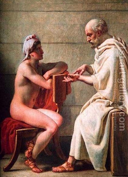 Socrates and Alcibiades by Christoffer Wilhelm Eckersberg - Reproduction Oil Painting