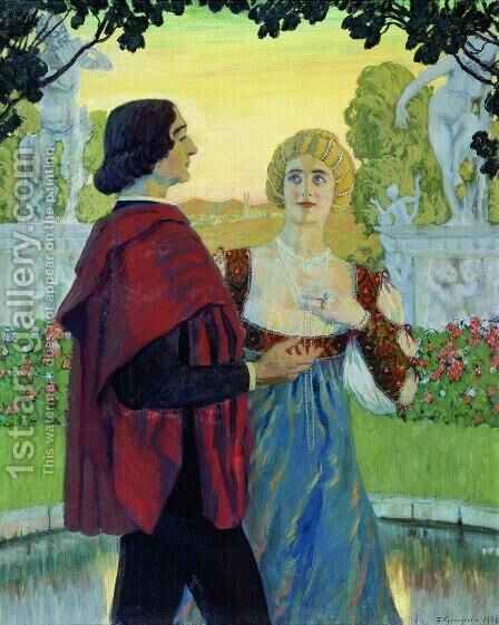 Poetry by Boris Kustodiev - Reproduction Oil Painting