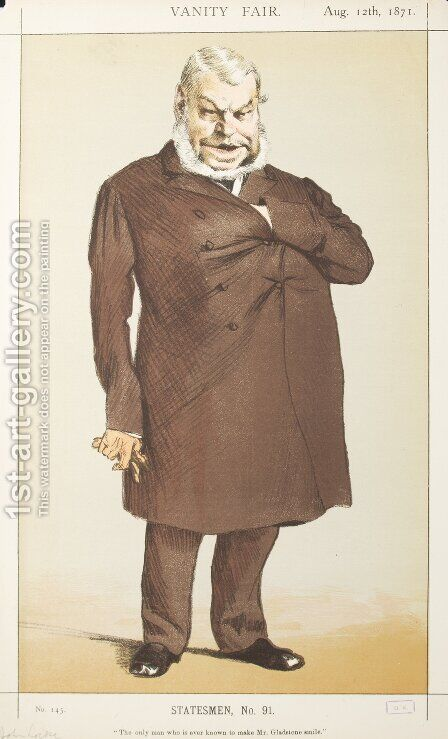 Statesmen No.910 Caricature of Mr John Locke M.P. by James Jacques Joseph Tissot - Reproduction Oil Painting