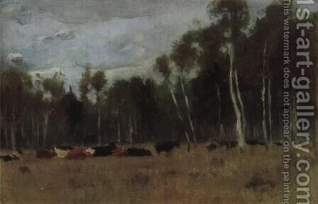 A herd by Isaak Ilyich Levitan - Reproduction Oil Painting