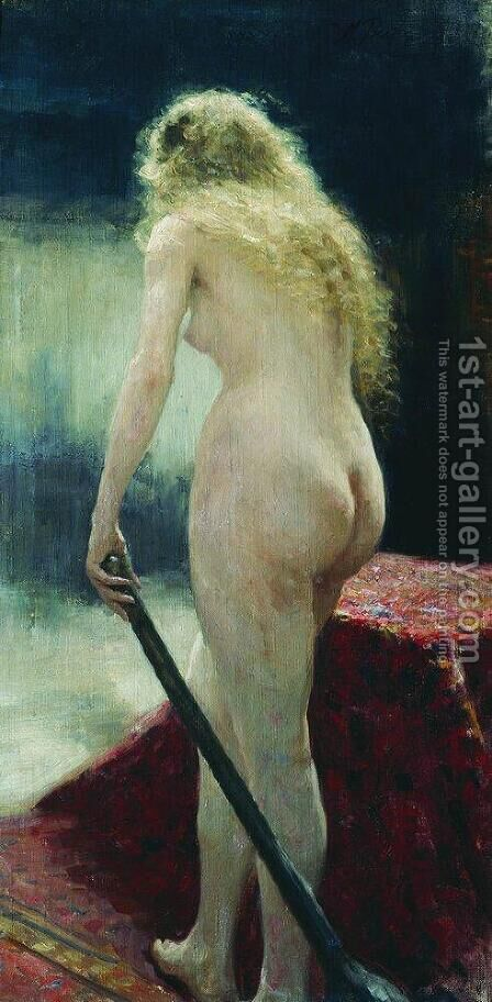 The model by Ilya Efimovich Efimovich Repin - Reproduction Oil Painting