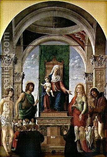 Sacred Conversation by Giovanni Battista Cima da Conegliano - Reproduction Oil Painting