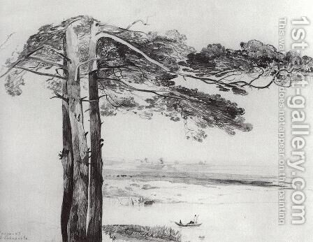 Pine from Gusareva by Alexei Kondratyevich Savrasov - Reproduction Oil Painting
