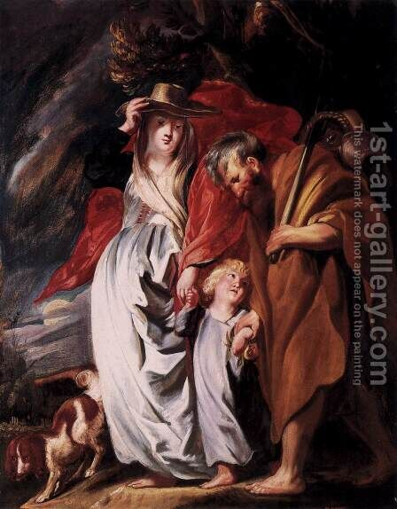 Return of the Holy Family from Egypt by Jacob Jordaens - Reproduction Oil Painting